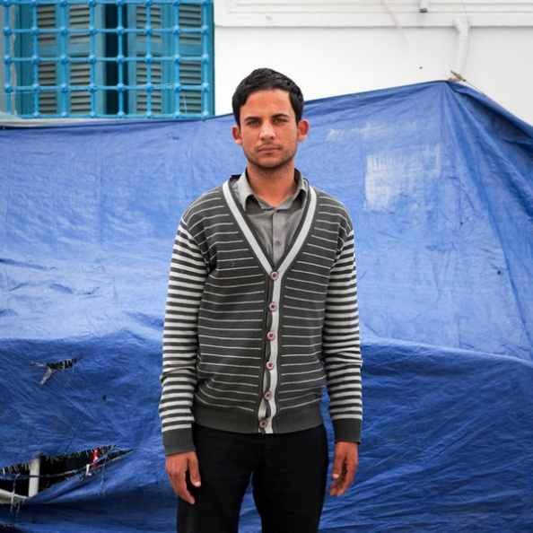 Nabil Zaeri, 32 ans, maîtrise d'anglais obtenue en 2002, originaire de Kerouan © Martin Barzilai