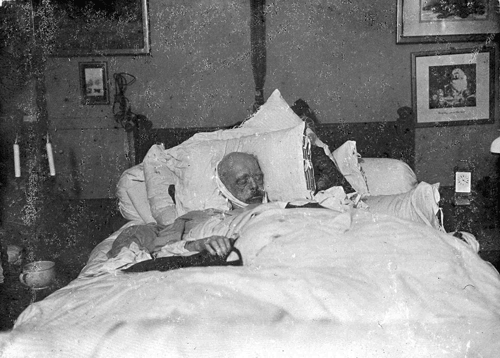 Bismarck, sur son lit de mort, 1898, Max Priester et Willy Wilcke.