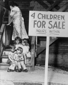 4 enfants à vendre, Chicago, Illinois © Bettmann/CORBIS -