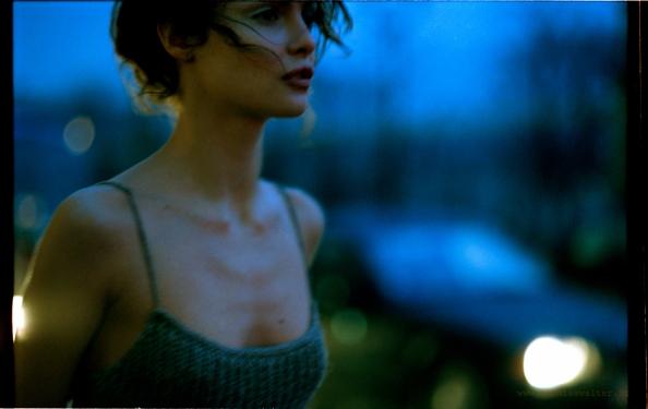 Heure bleue, première série de mode, 1999 60x80 © Mathias Walter Affiche